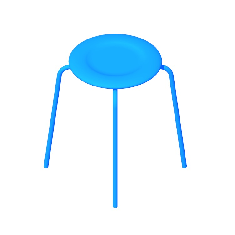 View of the Dot Stool in 3D available for download