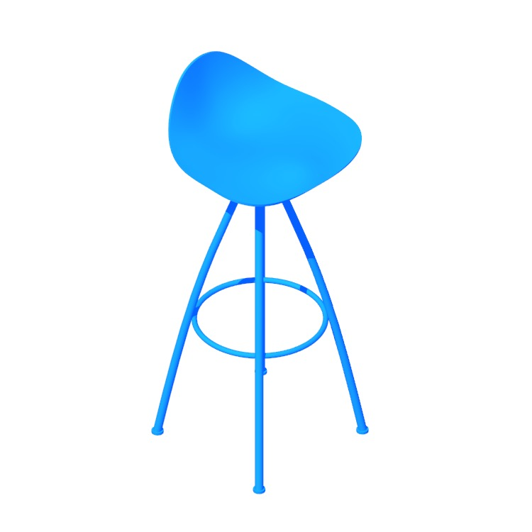 View of the Onda Stools in 3D available for download