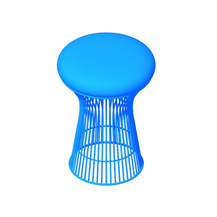 3D model of the Platner Stool viewed in perspective