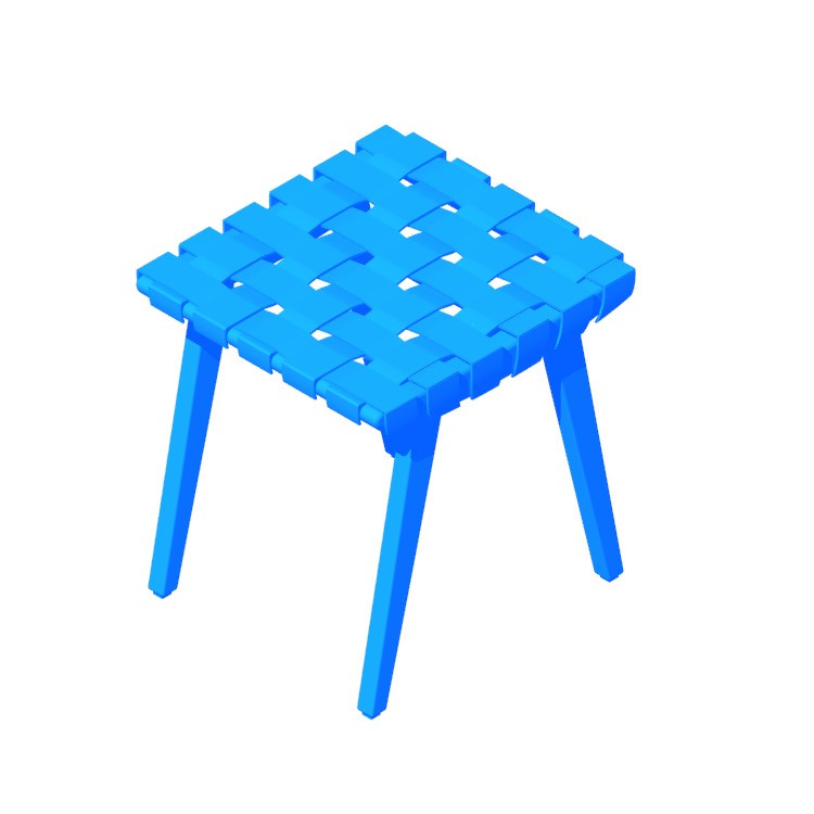 View of the Risom Stool in 3D available for download