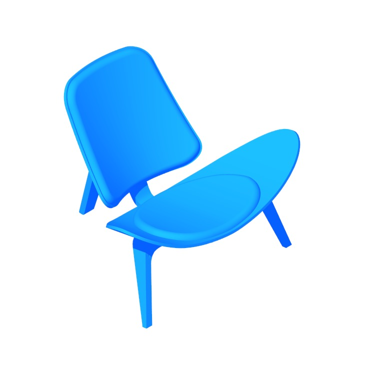 View of the Shell Chair in 3D available for download