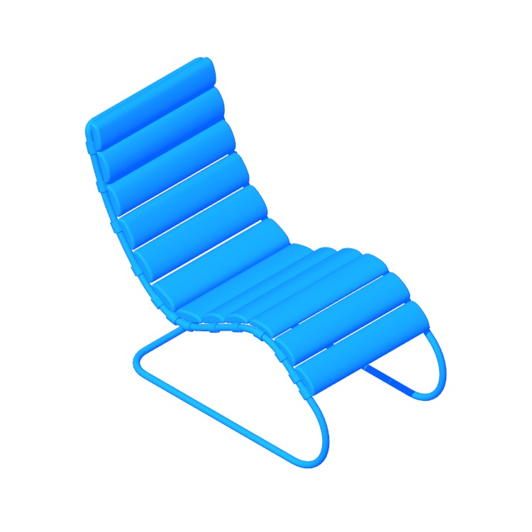 3D model of the MR Chaise viewed in perspective