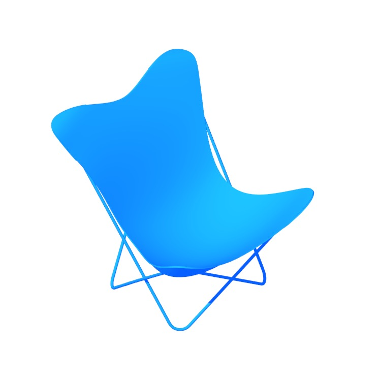 View of the Butterfly Chair in 3D available for download