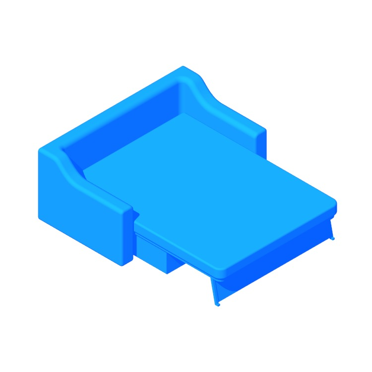 View of the IKEA Färlöv Sleeper Sofa in 3D available for download