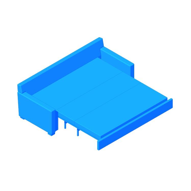 3D model of the Vesper King Sleeper Sofa viewed in perspective
