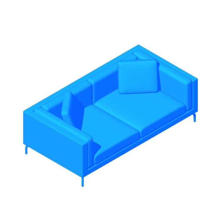"View of the Como 80"" Sofa in 3D available for download"