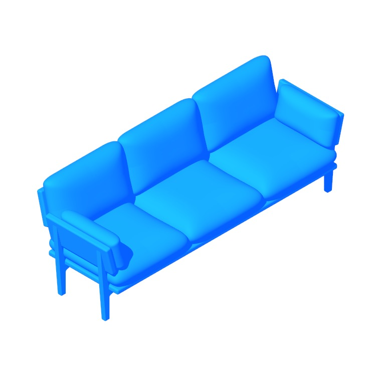 3D model of the Floyd 3-Seater Sofa viewed in perspective