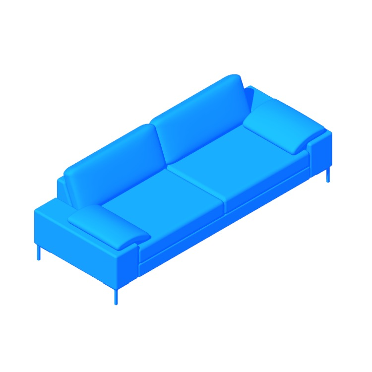3D model of the Arena Sofa viewed in perspective