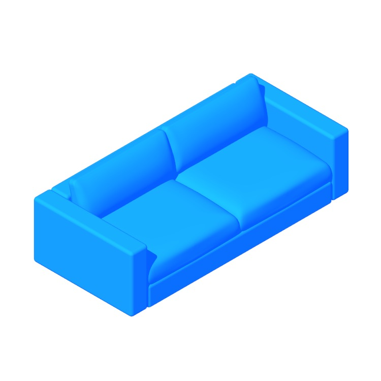 "View of the Reid 86"" Sofa in 3D available for download"