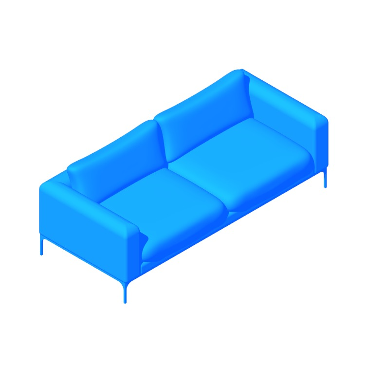 Perspective view of a 3D model of the Jonas Sofa
