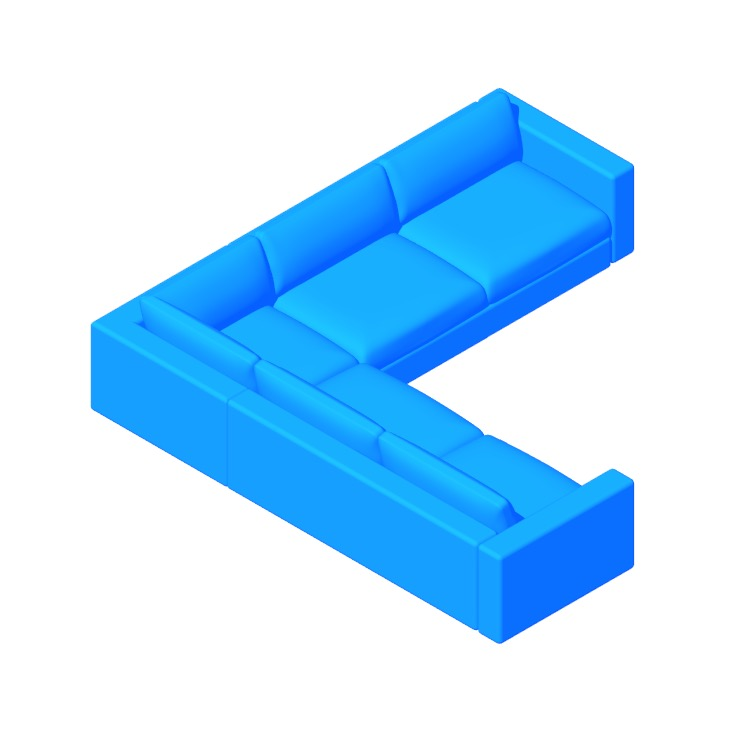 View of the Reid Corner Sectional in 3D available for download