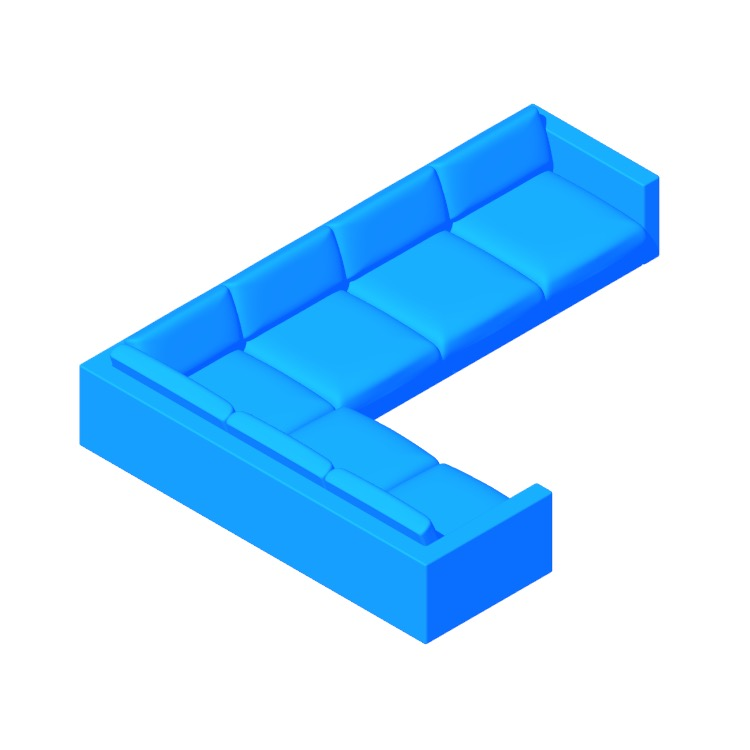 Perspective view of a 3D model of the Lispenard Corner Sectional