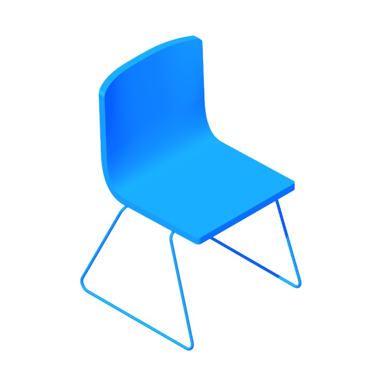 Perspective view of a 3D model of the IKEA Bernhard Chair