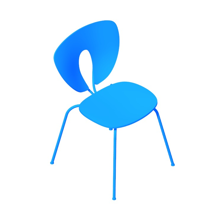 3D model of the Globus Chair viewed in perspective