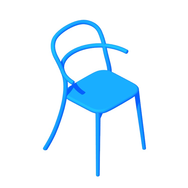 View of the Generic C Chair in 3D available for download