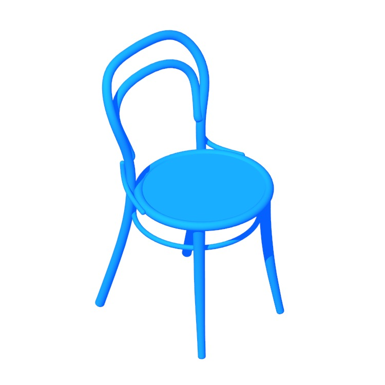 3D model of the Era Chair viewed in perspective