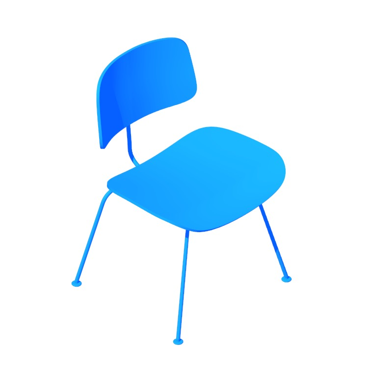 3D model of the Eames Molded Plywood Dining Chair viewed in perspective