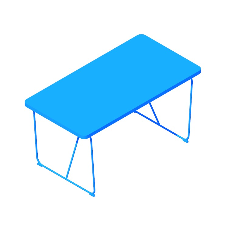 View of the IKEA Rydebäck | Backaryd Table in 3D available for download