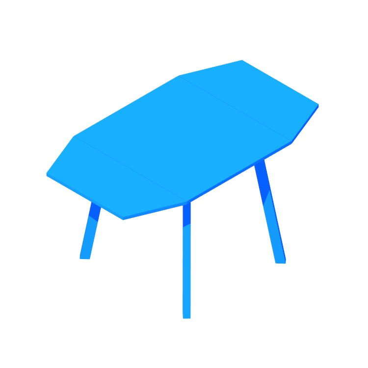 3D model of the IKEA PS 2012 Drop-leaf Table viewed in perspective