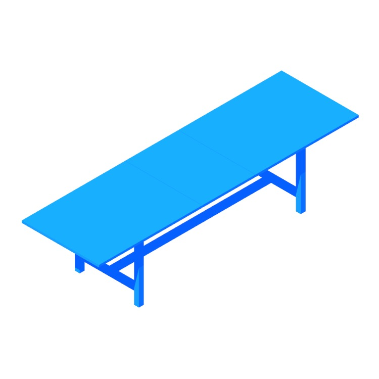 View of the IKEA Norden Extendable Table (Large) in 3D available for download