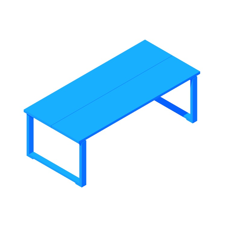 View of the IKEA Mörbylånga Table (Rectangular - Large) in 3D available for download
