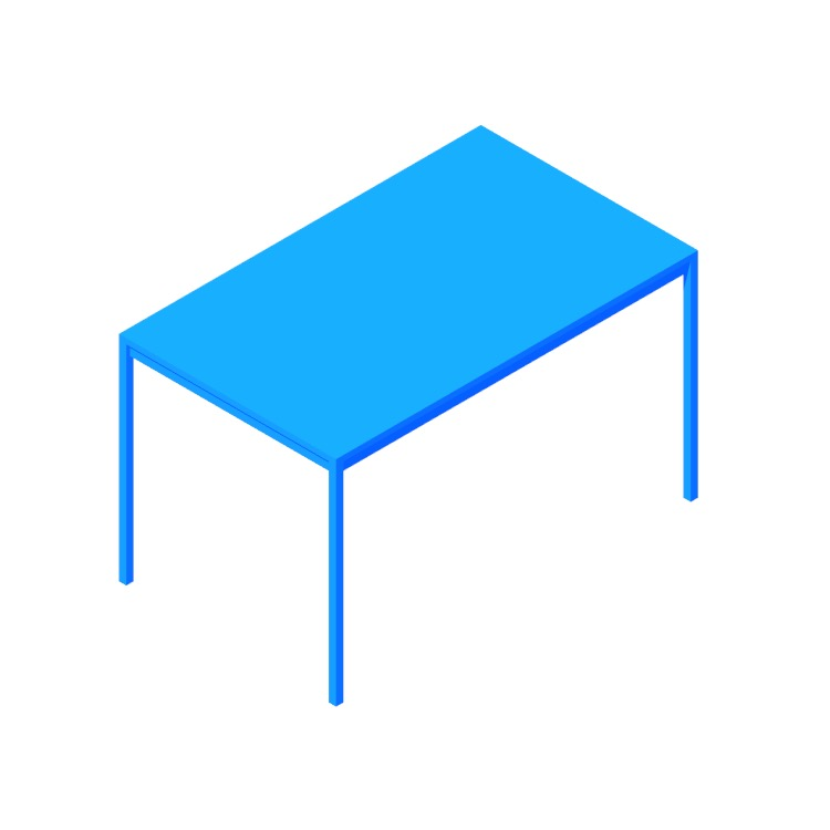 3D model of the IKEA Melltorp Table (Rectangular) viewed in perspective