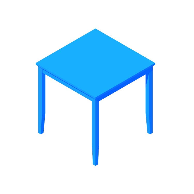 View of the IKEA Lerhamn Table (Square) in 3D available for download