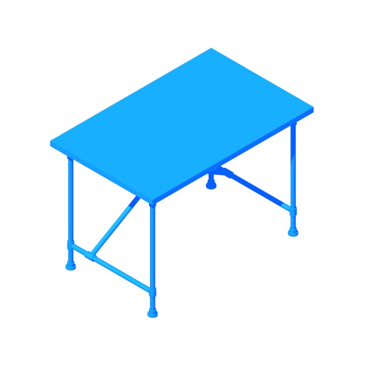View of the IKEA Kullaberg Desk in 3D available for download