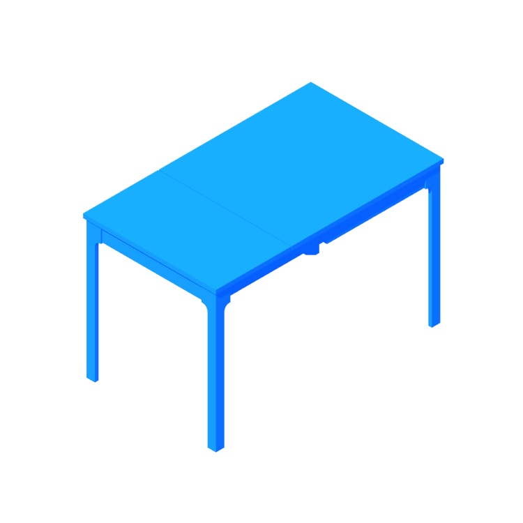 View of the IKEA Ekedalen Extendable Table in 3D available for download
