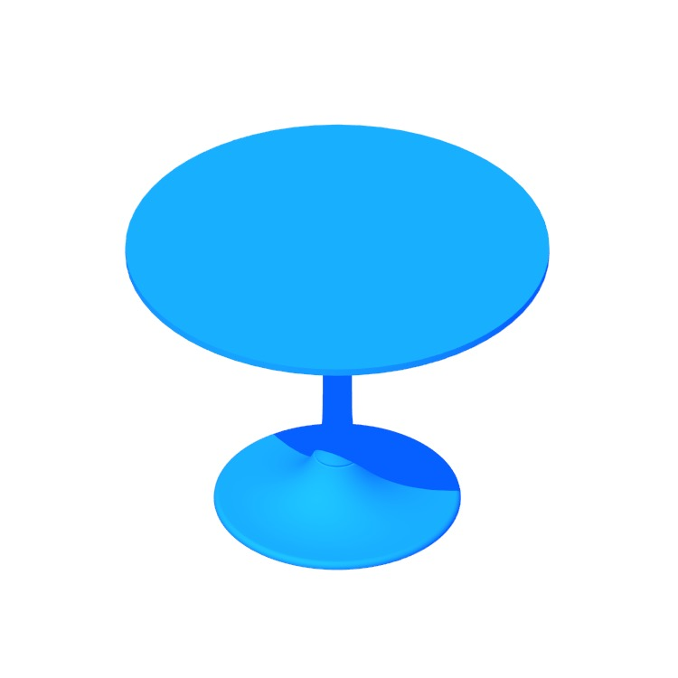3D model of the IKEA Docksta Table viewed in perspective
