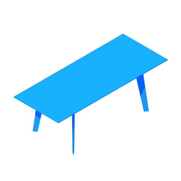 View of the IKEA Barkarby Extendable Table in 3D available for download