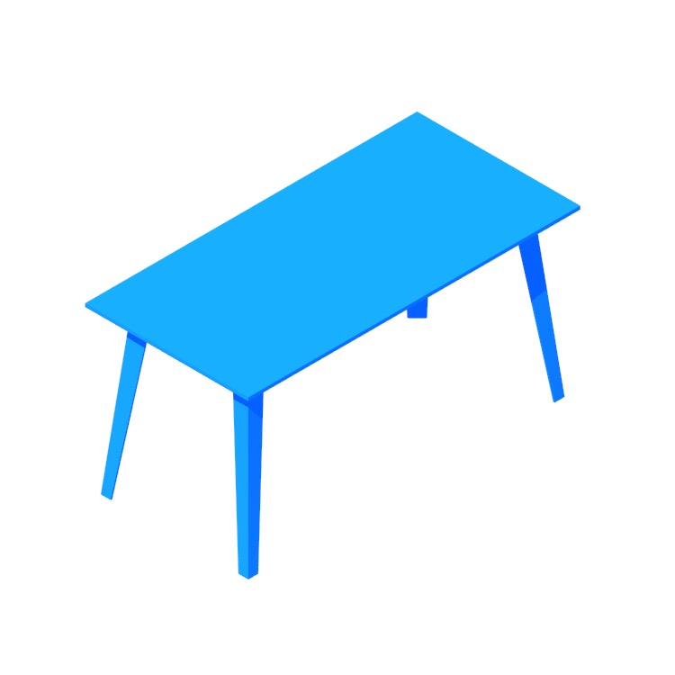3D model of the Floyd Table (Rectangular) viewed in perspective