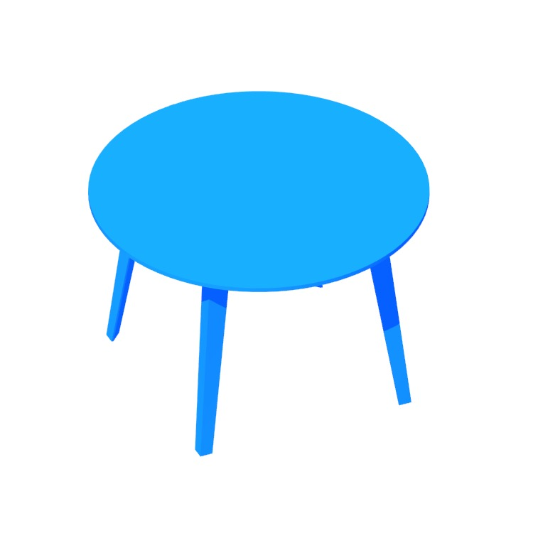 View of the Floyd Table (Round) in 3D available for download