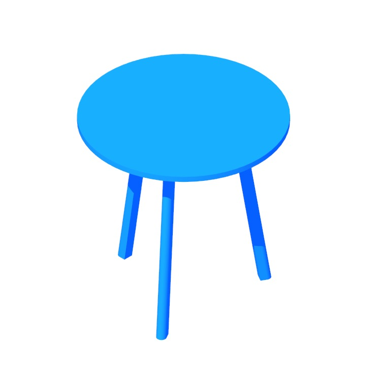 3D model of the Apt Cafe Table (Round) viewed in perspective