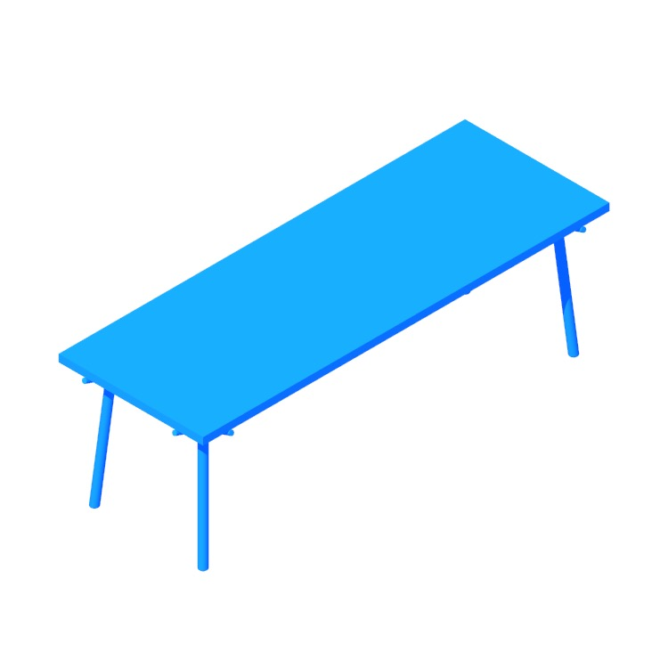 3D model of the Branch Dining Table (Large) viewed in perspective