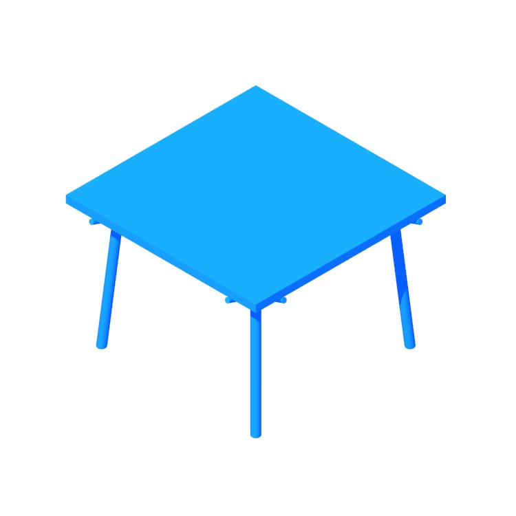 View of the Branch Dining Table (Square) in 3D available for download