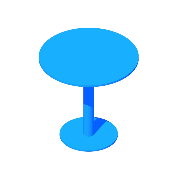 3D model of the Easy Cafe Table viewed in perspective