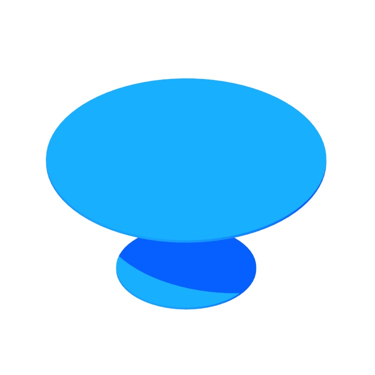 3D model of the Easy Dining Table (Large) viewed in perspective