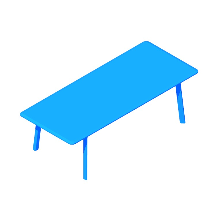 3D model of the Keeps Dining Table (Large) viewed in perspective