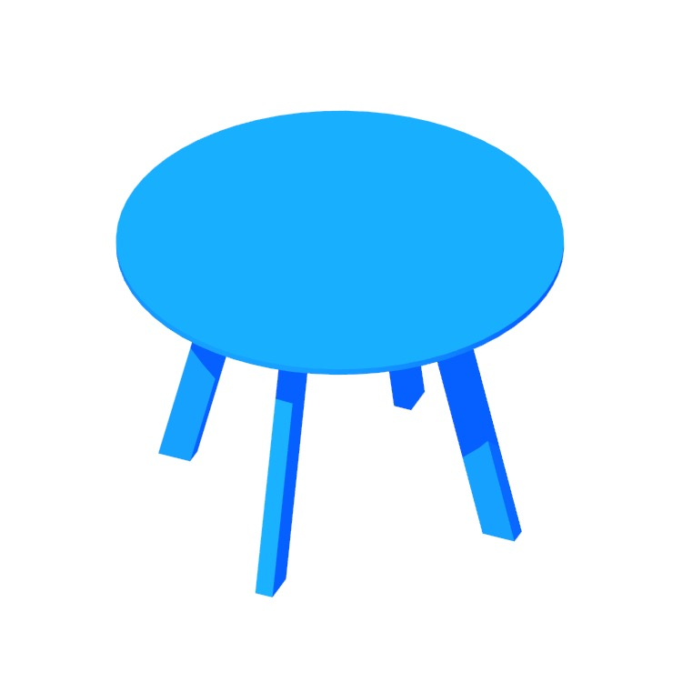 View of the Right Round Dining Table in 3D available for download