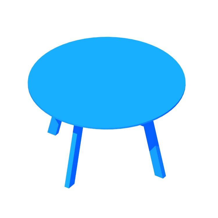 Perspective view of a 3D model of the Right Round Dining Table (Large)