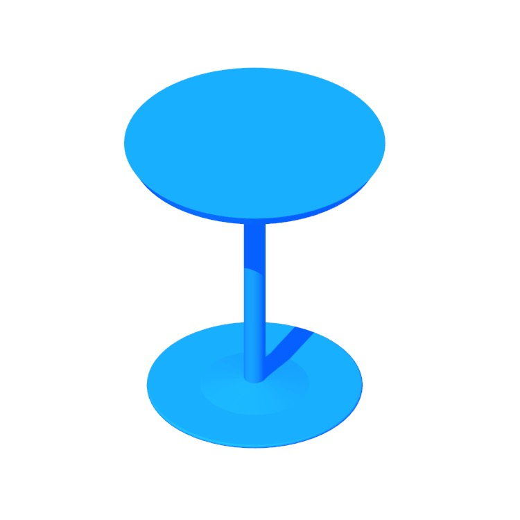 View of the Arena Table (Round) in 3D available for download