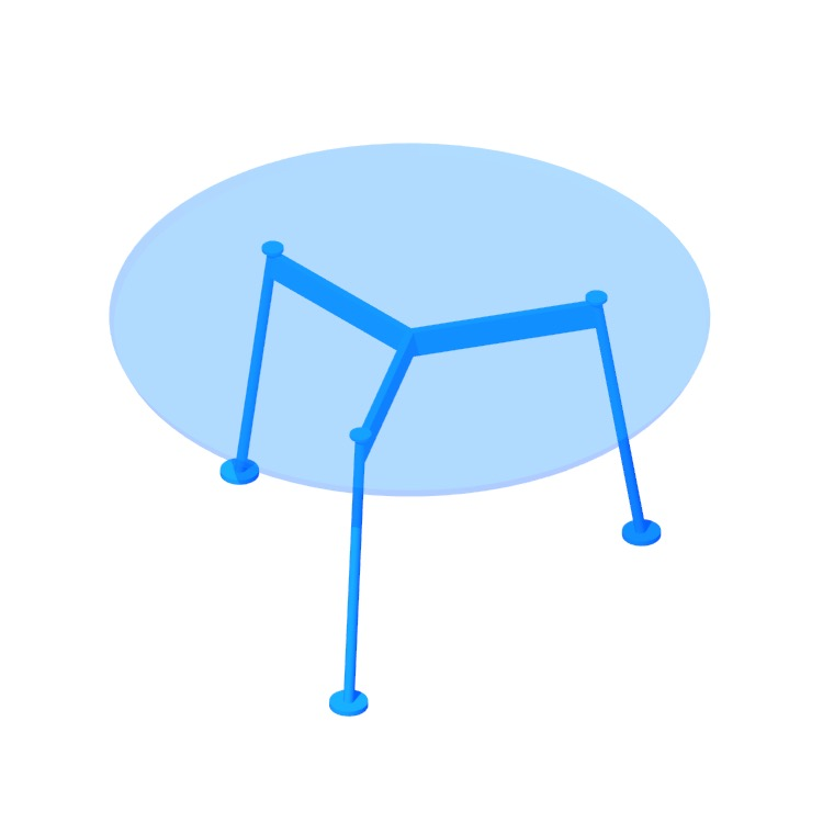 3D model of the Grasshopper Dining Table (Round) viewed in perspective