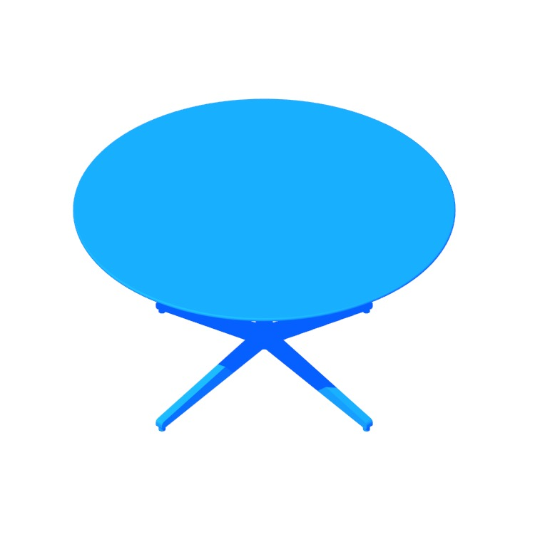 View of the Florence Knoll Table Desk (Round) in 3D available for download