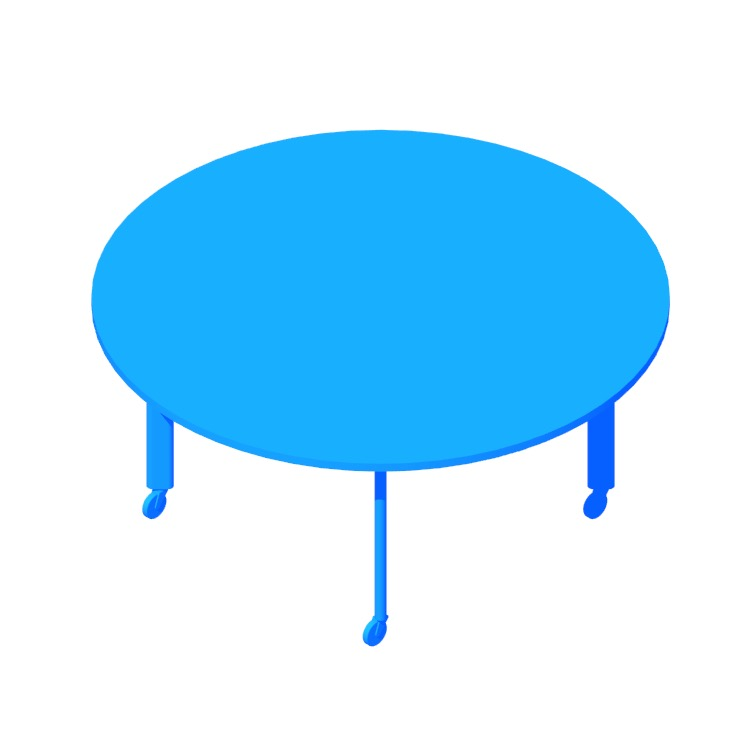 Perspective view of a 3D model of the D'Urso High Table (Round)