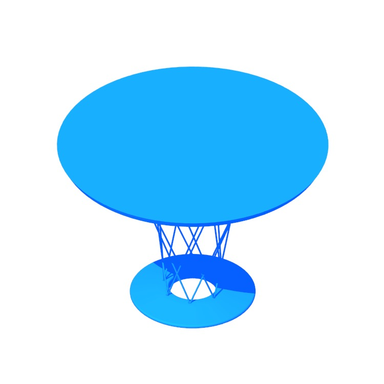 3D model of the Cyclone Dining Table viewed in perspective