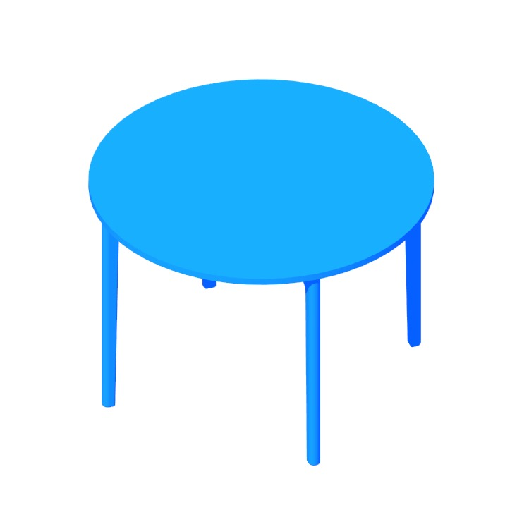 Perspective view of a 3D model of the Stromborg Table (Round)