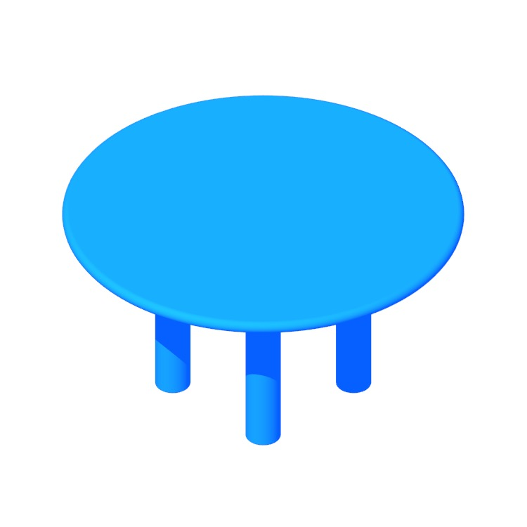 3D model of the Smalto Table viewed in perspective
