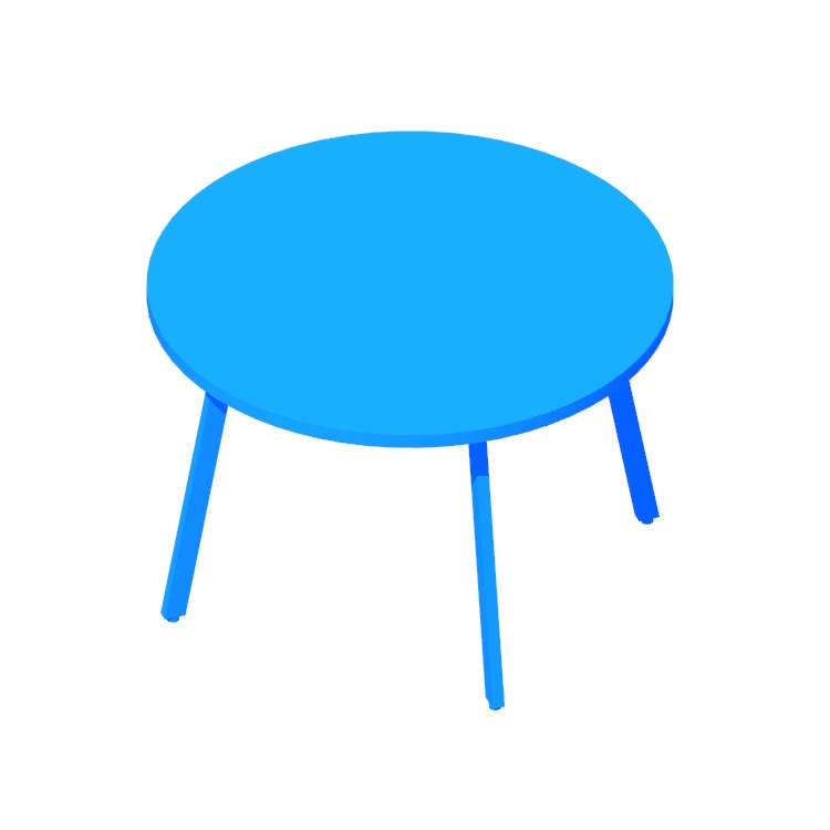 View of the Rockwell Unscripted Easy Table (Round) in 3D available for download