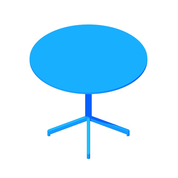 View of the Pixel Table (Round) in 3D available for download